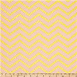 Michael Miller Glitz Metallic Sleek Chevron Pearlized Confection