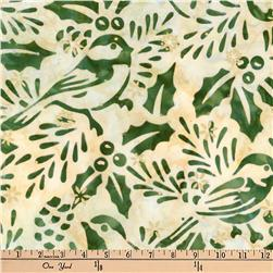 Kaufman Batiks Metallic Northwood Birds Holly