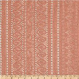 Doily Lace Stripes Melon Orange