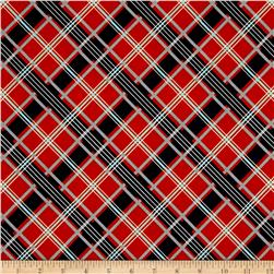Riley Blake Keep On Groovn' Plaid Orange
