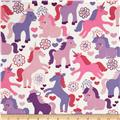 Michael Miller It's a Girl Thing Magic Unicorns Lavender