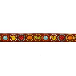 7/8'' Dena Designs Woodland Creatures Ribbon Brown