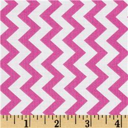 Chevron Chic Simple Chevron Pink Fabric