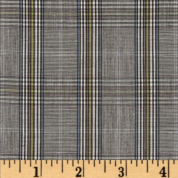 Yarn Dyed Plaid Suiting Black Multi