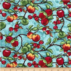 Summer Preserves Tossed Apples Teal