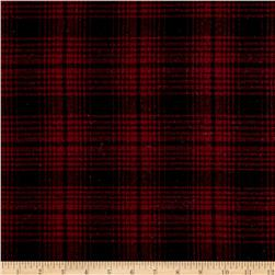 Yarn Dyed Plaid Flannel Red Black