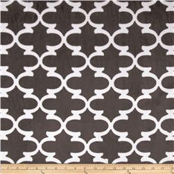 Premier Prints Dolce Vita Minky Cuddle Lattice Pewter/Snow