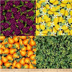 Locally Grown Grapes Plus Fat Quarter Cheater Panel Multi