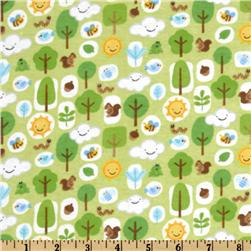 Mother Nature Flannel Forest Friends Boy Green