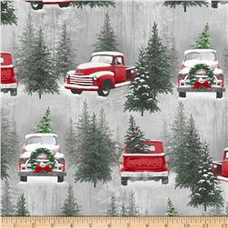 Holiday Traditions Scenic Red & Gray