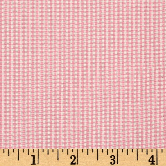 Woven 1/16'' Carolina Gingham Candy Pink