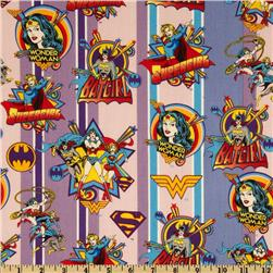 Girl Power Wonder Woman Badges Stripe Purple