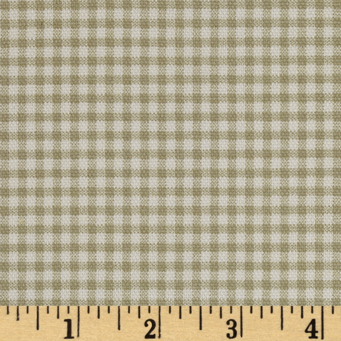 Small Check Ivory/Grey Fabric