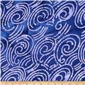 Indian Batik Scroll Purple/Lavender