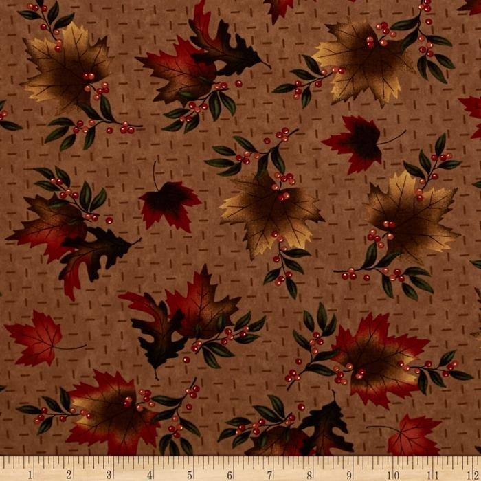 Moda Maple Island Autumn Leaves Mocha
