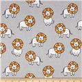 Michael Miller Baby Zoo Flannel Dandy Lions Cloud