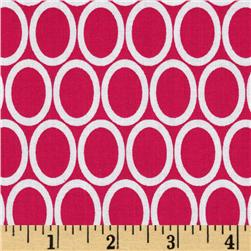 Remix Dots Ovals Bright Pink Fabric