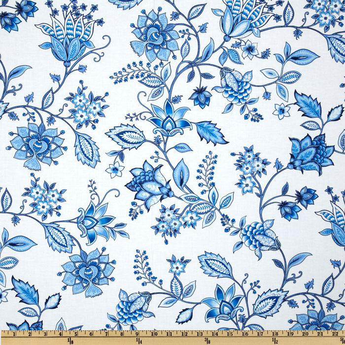 Kanvas Blue Eden Jacobean White