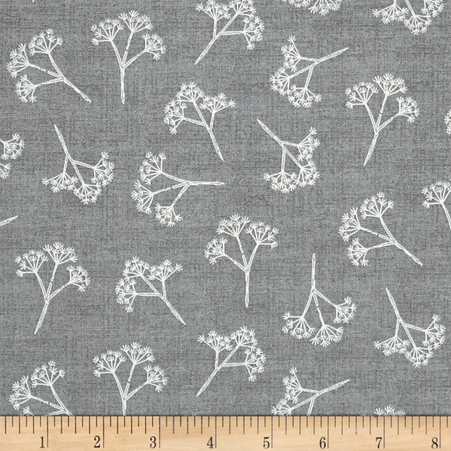 Heartwood Cow Parsley Gray Fabric by Andover & Makower in USA