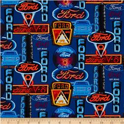 Ford Mustang Ford Neon Signs Fabric