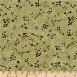 Moda Lady Slipper Lodge Wildflowers Pine Green