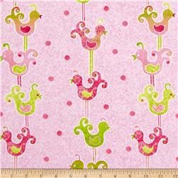 The Garden Club Bird Stripe Pink/Green
