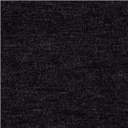 French Terry Knit Solid Heathered Charcoal Grey