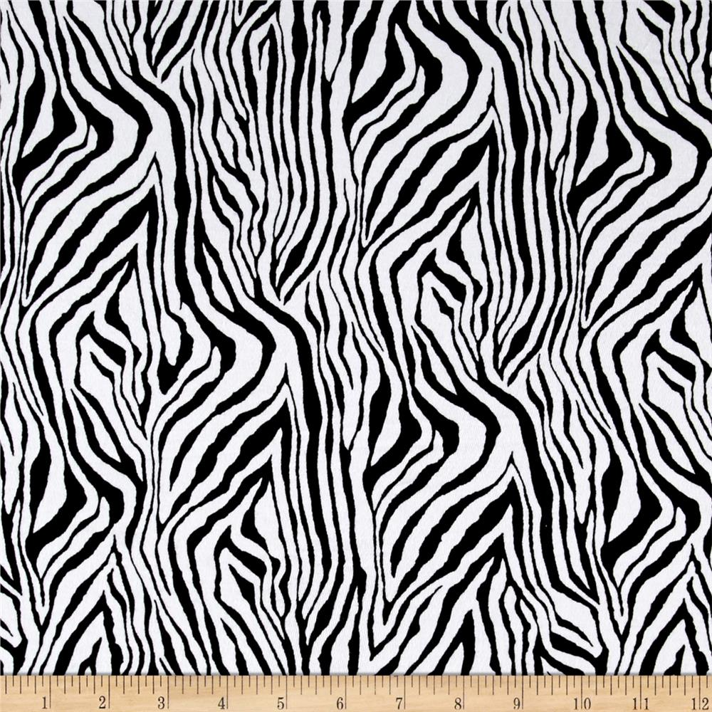 Cotton Lycra Spandex Jersey Knit Zebra Black/White