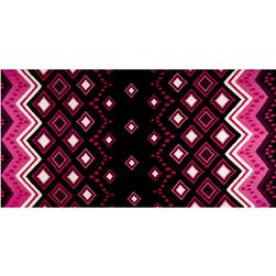 Jersey Knit Abstract Print Black/Purple