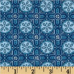 Moda Seascapes Sand Dollar Tiles Navy