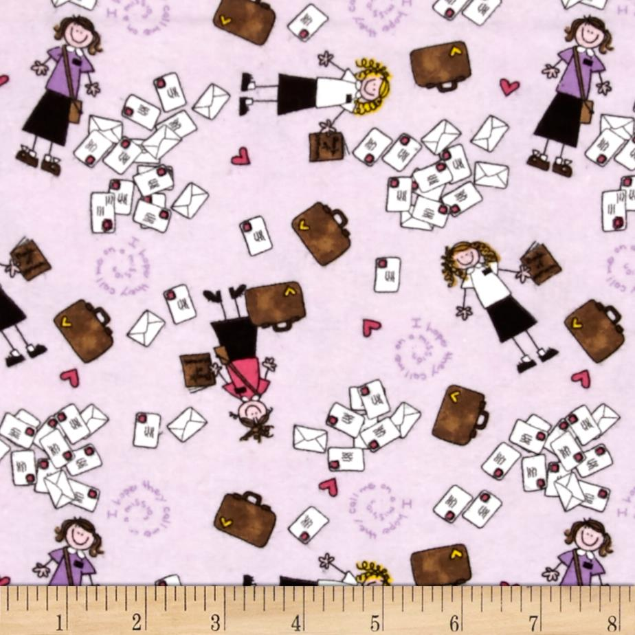 Alpine Flannel Sister Missionary Lilac Fabric By The Yard