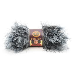 Lion Brand Fun Fur Exotic Yarn (150) Onyx