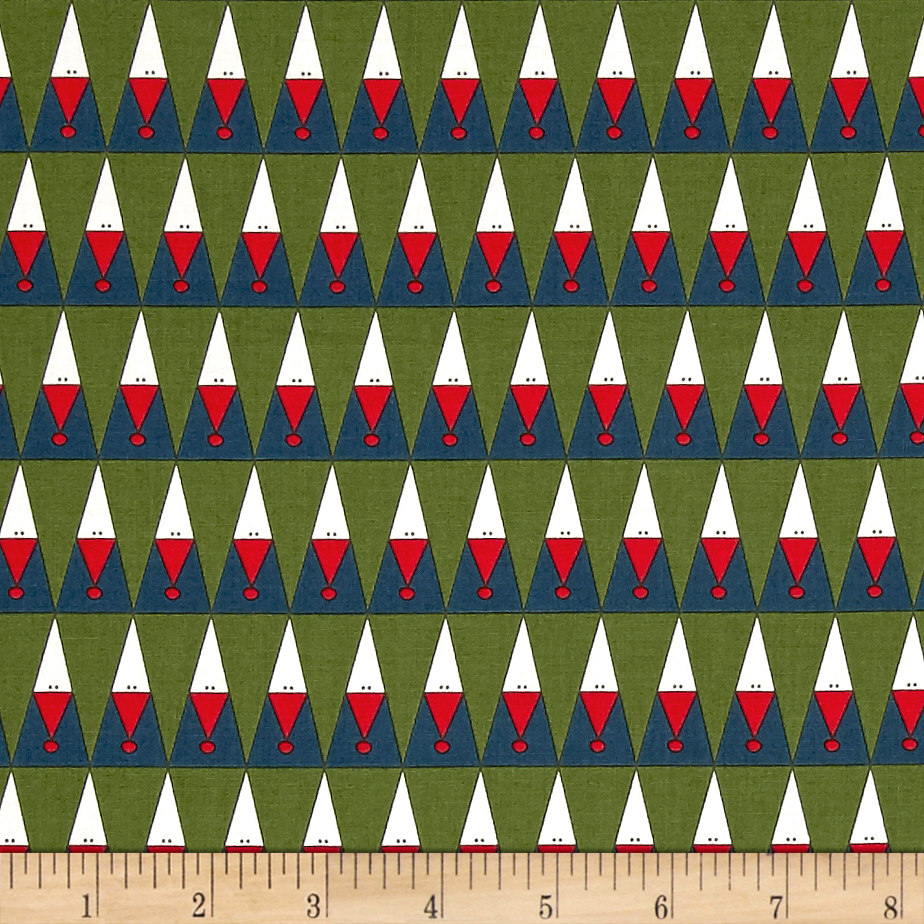 Image of Moda Eat Drink & Be Ugly Peeking Santas Night Sky/Evergreen Fabric