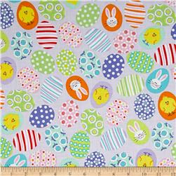 Kanvas Funny Bunnies Decorated Eggs Lavender