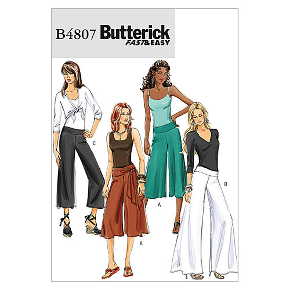 Butterick Misses'/Misses' Petite Pants and Sash Pattern B4807 Size AA0
