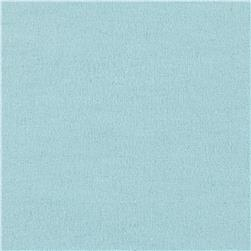 Fluffy Solids Flannel Aqua