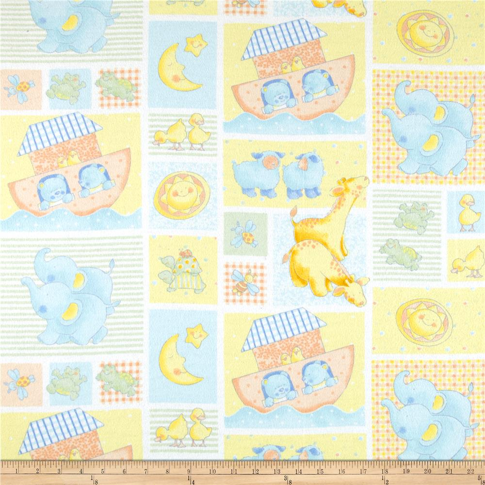 Cuddly Noah's Ark Flannel Patchwork Yellow