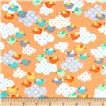 Kanvas Breezy Baby Flannel Chirp Chirp Orange