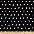 Robert Kaufman Remix Triangles Scatter Black