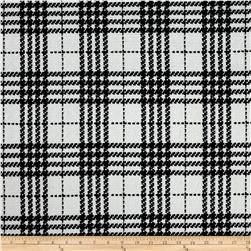 Liverpool Double Knit Plaid Ivory/Black