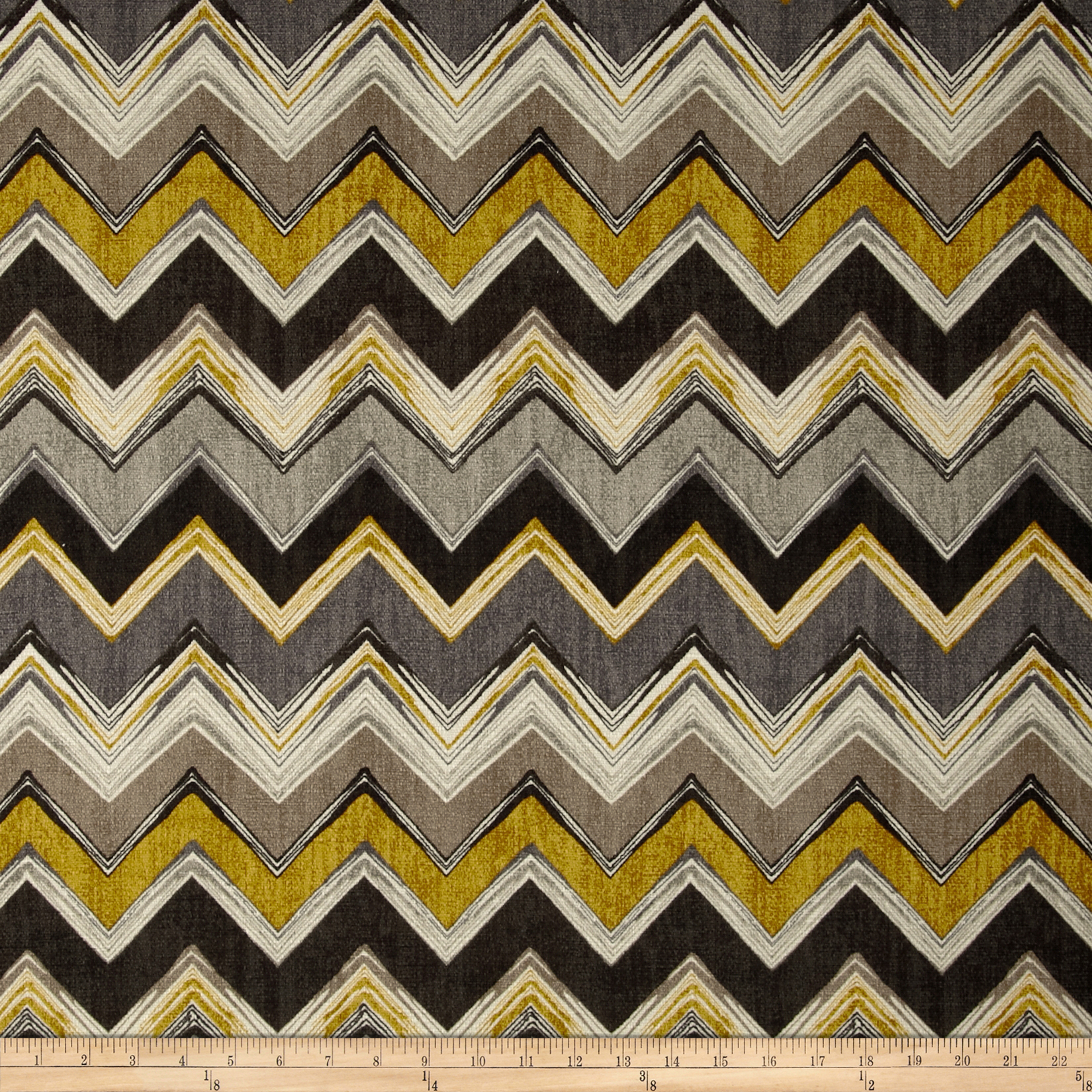 Swavelle/Mill Creek Clement Chevron Gold Rush Fabric