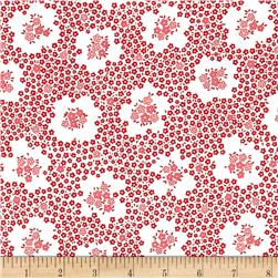 Robert Kaufman Pretty Posies Circle Plaid Red