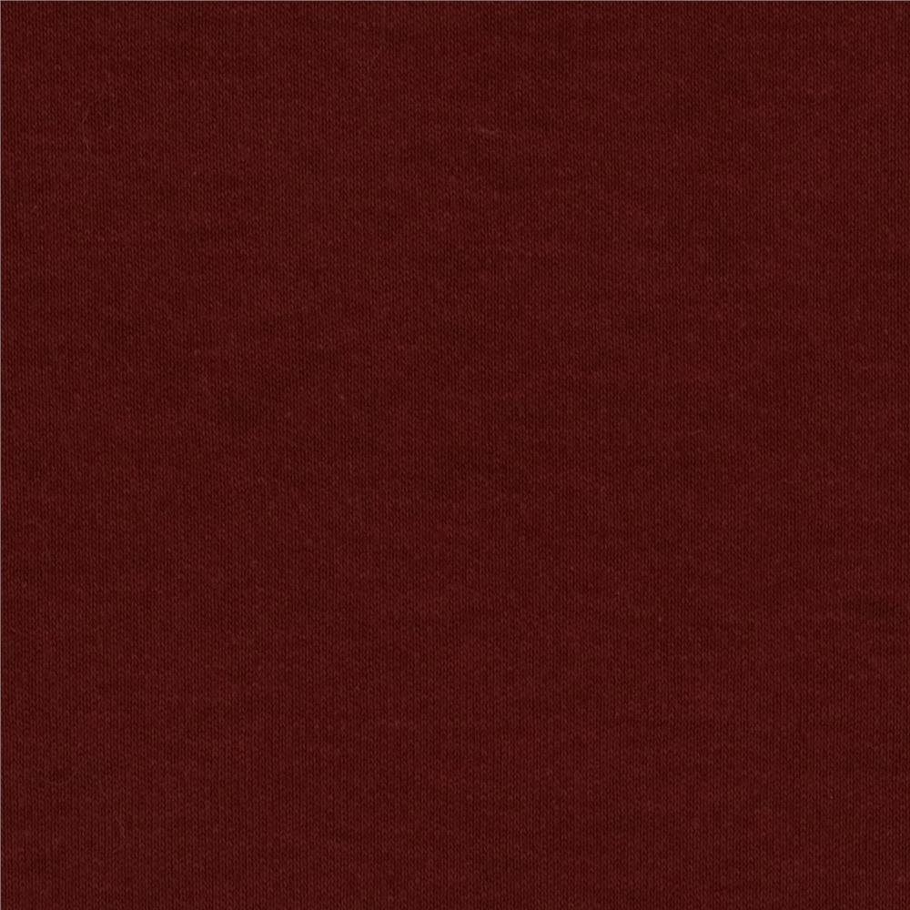 Cotton Interlock Knit Burgundy