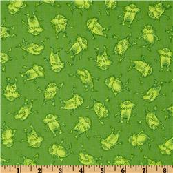 The Lorax Organic Scattered Tonal Lorax Bright Fabric