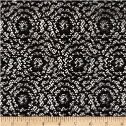 Argentella Stretch Lace Black Fabric