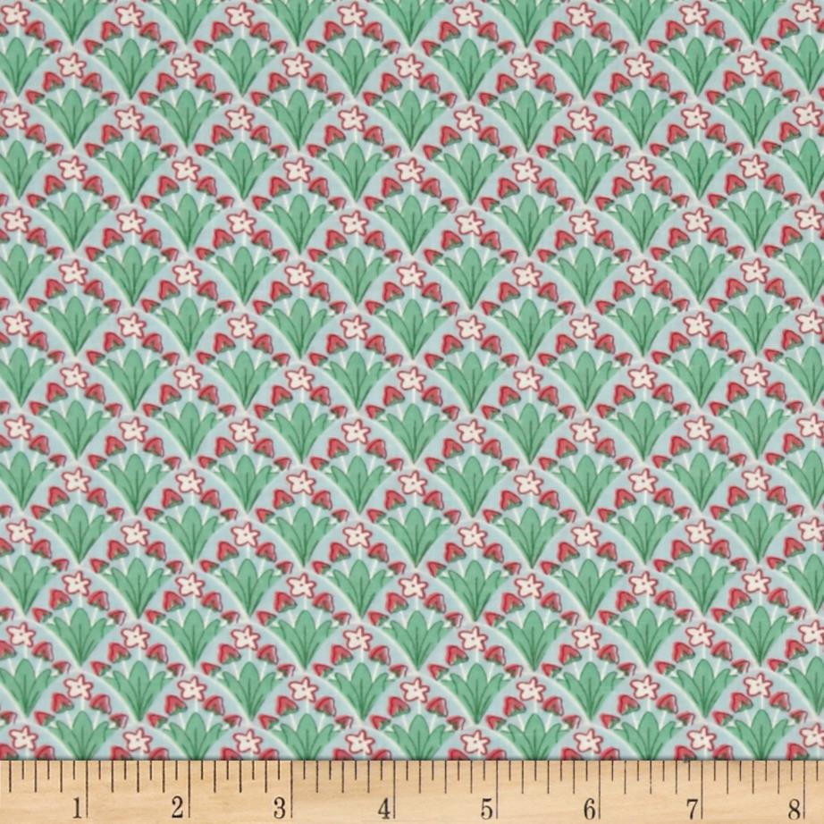 Moda Bumble Berries Strawberry Patch Sky Fabric By The Yard