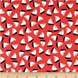Michael Miller The Littles Little Sailboat Coral Fabric