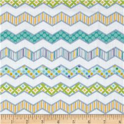 Happi Chevron Blue Fabric