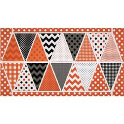 Riley Blake Holiday Banners Panel Halloween Orange