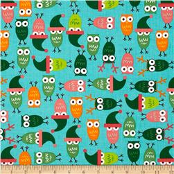 Jingle 2 Tossed Holiday Owls Vintage Fabric